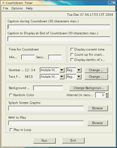Configuration screenshot